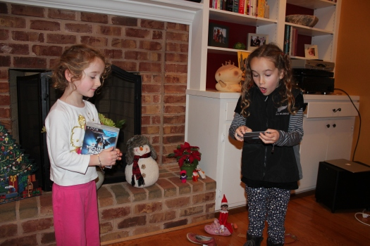 Happy with their gifts from Sinterklaas.