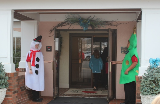Very festive doormen.