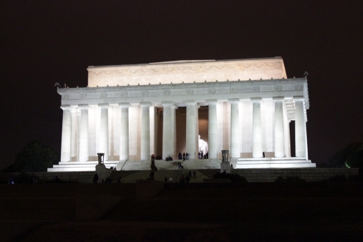 The Abraham Lincoln Memorial.