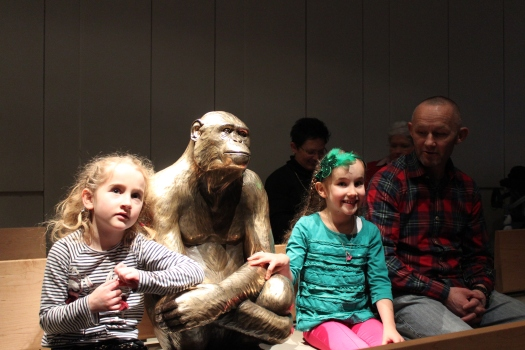 We hung out with a friendly chimpanzee...