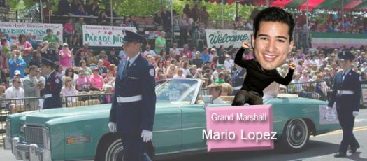 Mario Lopez getting his bloom on.