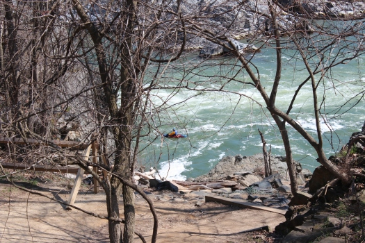 Even got to see a kayaker tackling the rapids.
