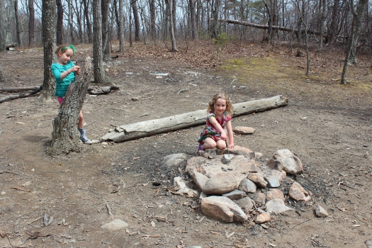 Checking out Yogi Bear's campsite.