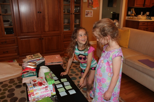 Dad set up a treasure hunt for the big present. The girls had great fun deciphering the clues.
