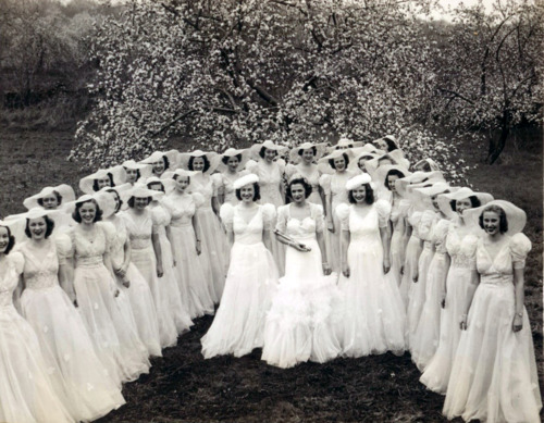 Unfortunately I couldn't find an image of Elizabeth Steck. This is Miss Genevieve Garner, Queen Shenandoah 1939, with her court.