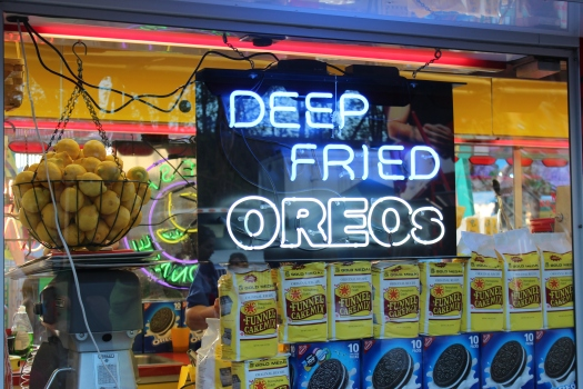 We resisted the urge to try one out - and I thought Scotland was bad with its deep fried Mars Bars!
