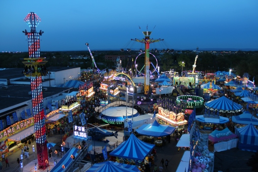 Edie and I snapped this view of the carnival as we took a ride on the ferris wheel.