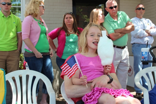 Cotton candy, stars and stripes...my little kiwi is turning American!