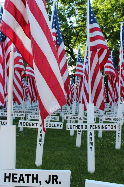 The other important part of Memorial Weekend - remembering the men and women who died whilst serving in the US Armed Forces.