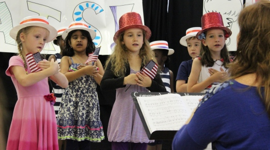 There was a very patriotic song about Uncle Sam's red, white and blue hat.
