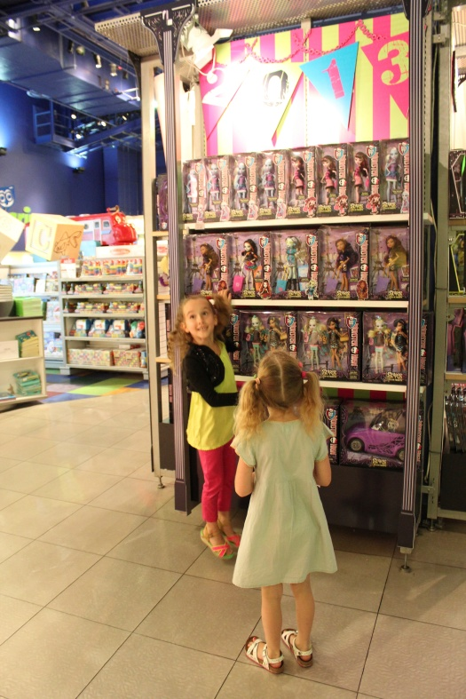 Monster High heaven in Toys R Us.