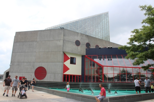 The National Aquarium - one very cool building.