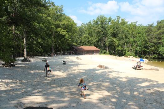 Finding a good beach spot.