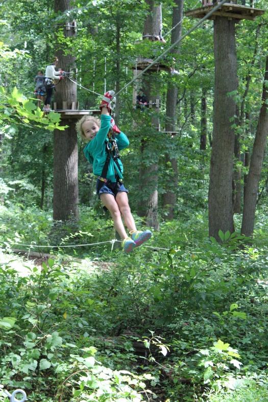 Olive enjoying her final descent.