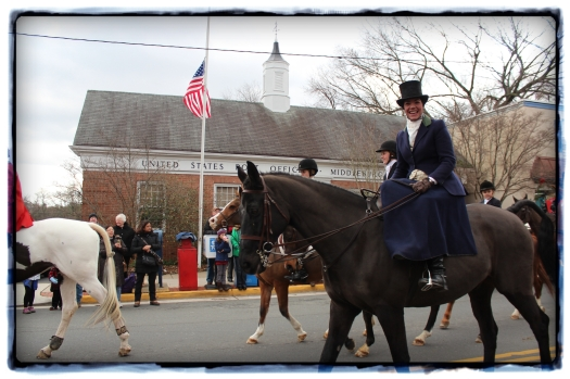 Some of the ladies even rode side saddle - complete with appropriate riding habit.