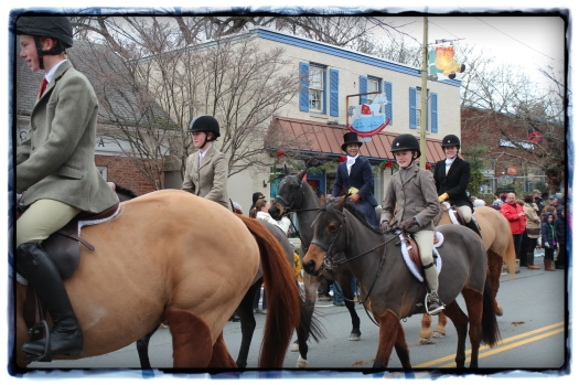 The girls were very impressed to see this young rider in the parade.