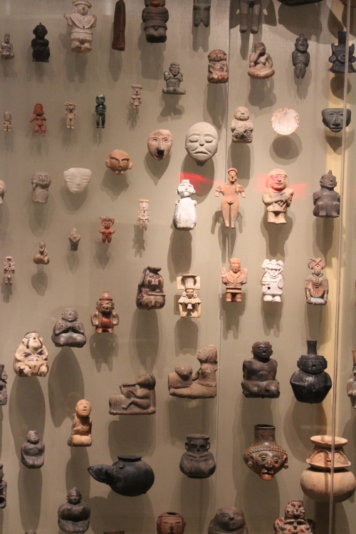 There was a brilliant display of Aztec, Myan and Quecha artifacts.