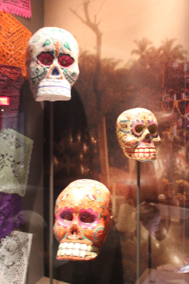 Artifacts related to Dia de Muertos or the day of the dead.