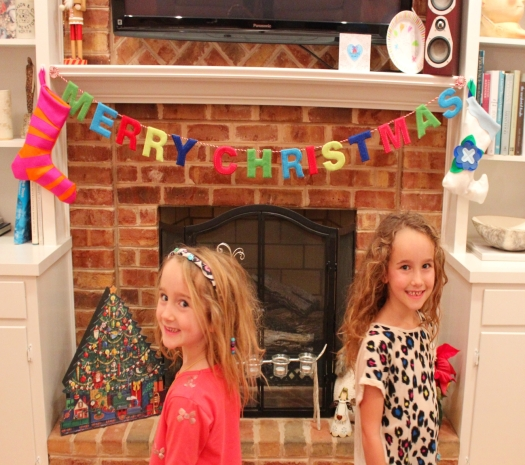As it was Friday morning the girls had to get to school so they were only allowed to dip into their stockings...