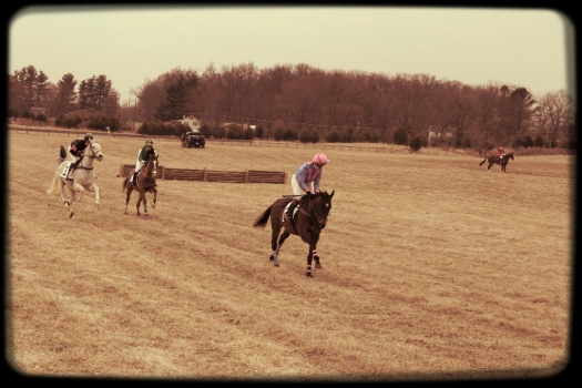 Riders in action.