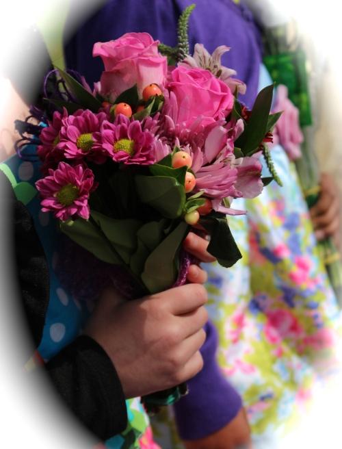 Edie's floral tribute.