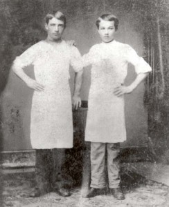 Milton Hershey on the left as a teenager.