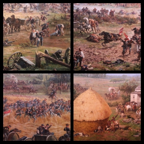 Scenes form the cyclorama.