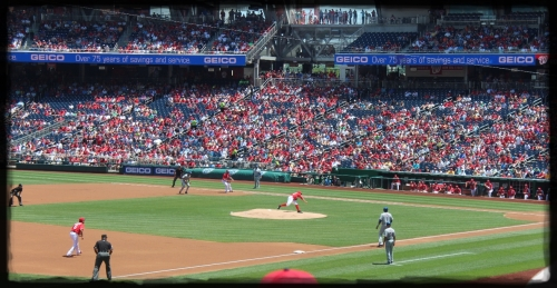 First pitch of the game.