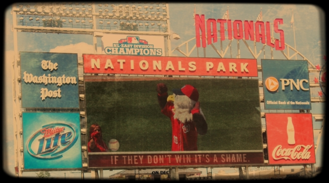 The Nationals mascot wasn't too happy. After nearly three hours, the Rangers were victorious - two home runs to nil.