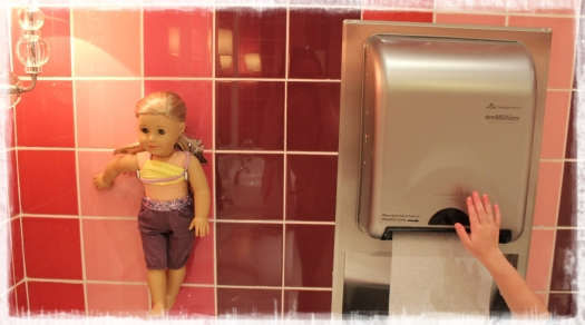 My special highlight - a hook for your doll so she can accompany you whilst you pee - genius!