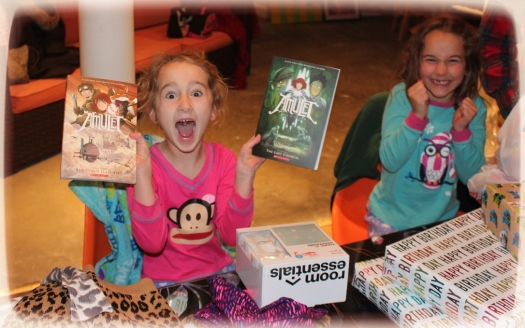 Lots of lovely gifts. This graphic novel series is very popular with both the girls...as you can probably tell :)